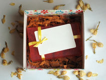 Soap in a gift box. Pink handmade soap in a gift box Stock Photo