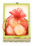 Soap gift wooden box Stock Image