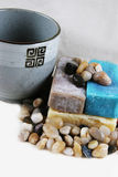 Soap and healing stones Royalty Free Stock Photos