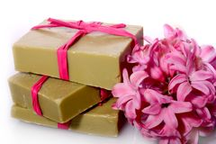 Soap and hyacinth Royalty Free Stock Images