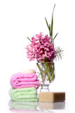 Soap and hyacinth Royalty Free Stock Image