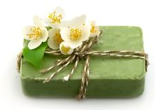 Soap with jasmine Royalty Free Stock Photo