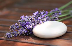Soap with lavender Royalty Free Stock Image