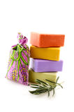 Soap and lavender Royalty Free Stock Photo