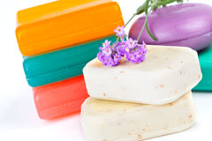 Soap and Lavender Royalty Free Stock Image