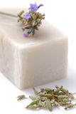 Soap with lavender. Photography of a soap with lavender Stock Images