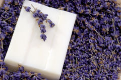 Soap with Lavender Royalty Free Stock Images