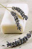 Soap with lavender Stock Image