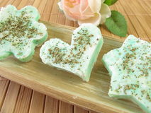 Soap with lemon verbena Stock Photography