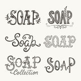 Soap lettering Royalty Free Stock Images