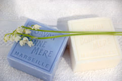 Soap with lilies of the valley 2 Stock Image
