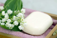 Soap and lilies of the valley Stock Photography
