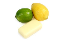 Soap from lime and lemon Royalty Free Stock Image
