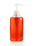 Soap / lotion / shampoo against white Royalty Free Stock Image