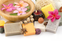 Soap made from natural raw materials Stock Photography