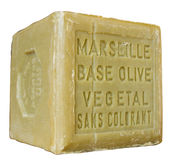 Soap of marseille. Isolated; clip path Stock Photos
