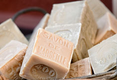 Soap of Marseille stock photography
