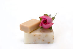 Soap  natural ingredients Stock Photography