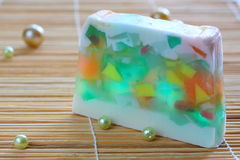 Soap with natural ingredients Royalty Free Stock Images