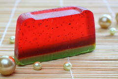 Soap with natural ingredients Stock Photography