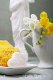 Soap and natural sponges Royalty Free Stock Image