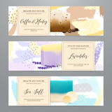 Soap Packaging Realistic Banners Set stock illustration