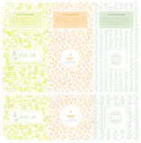 Soap packaging wrapping paper.vector. Vector set of design elements and icons in trendy linear style for soap package royalty free illustration
