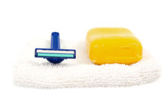 Soap and razor Stock Photography