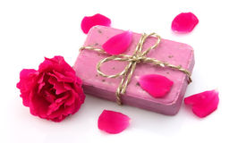 Soap with rose Royalty Free Stock Image