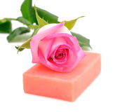 Soap and rose Royalty Free Stock Photo