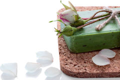 Soap with a rose bud Royalty Free Stock Image