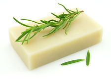 Soap with rosemary Stock Photography