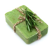 Soap with rosemary Royalty Free Stock Photography