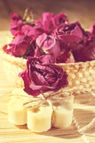 Soap with roses Stock Image