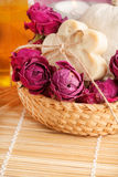 Soap with roses Royalty Free Stock Photo
