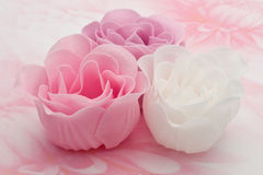 Pink and White Soap Roses Stock Images