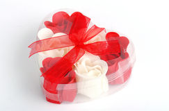 Soap roses in box. Royalty Free Stock Images