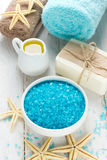 Soap and sea salt Stock Photography