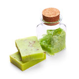 Soap with sea salt Royalty Free Stock Images