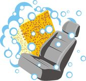 Soap seat. Sign of the washer of the car sittings Stock Images