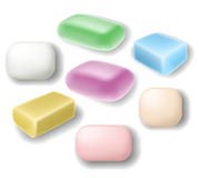 Soap set. In different shapes and colors Royalty Free Stock Image