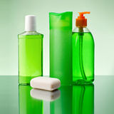 Soap and shampoo Royalty Free Stock Images