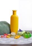 Soap and shampoo Royalty Free Stock Image