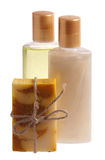 Soap, shampoo and shower gel Royalty Free Stock Image