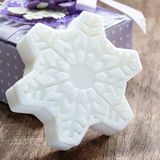 Soap in the shape of snowflake Stock Photo