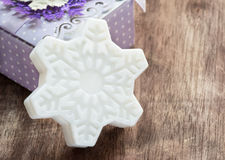 Soap in the shape of snowflake Royalty Free Stock Photos