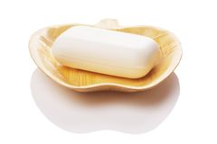 Soap with soap dish Royalty Free Stock Images