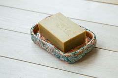 Soap in a soap-dish Royalty Free Stock Images