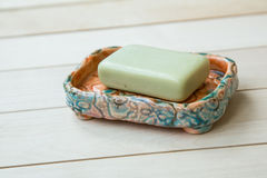 Soap in a soap-dish Royalty Free Stock Photography