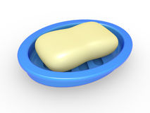 Soap in a soap tray Stock Photo